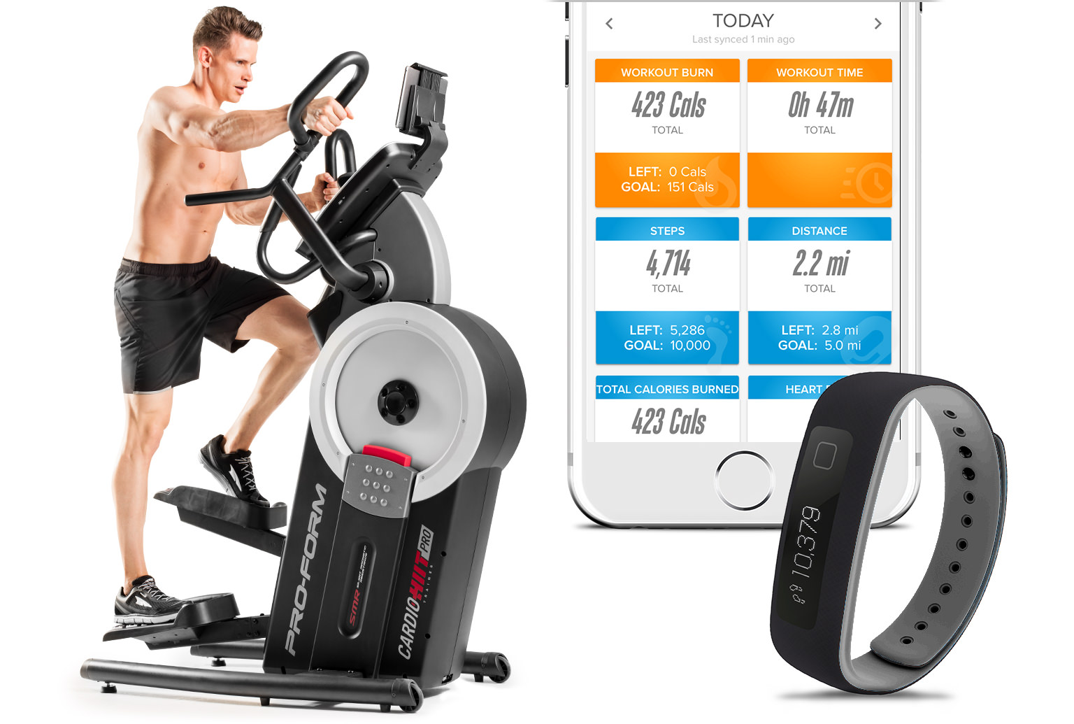 Trck your workout using wearables and equipment